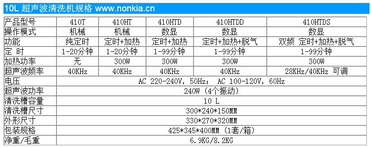 小型超声波清洗设备规格