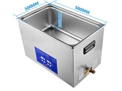 30L全自动超声波清洗机内槽尺寸