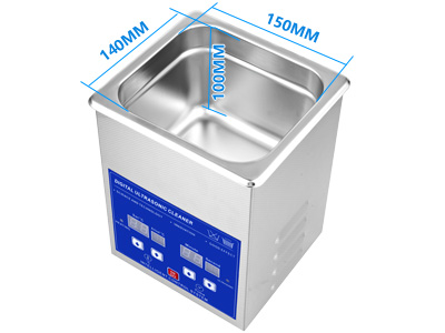 2L不锈钢超声波清洗机内槽尺寸