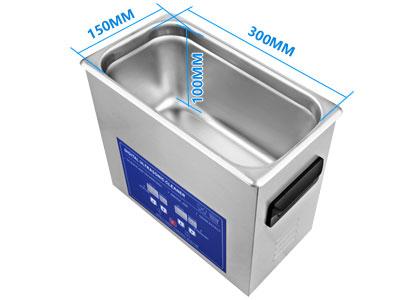 4L医用超声波清洗机内槽尺寸