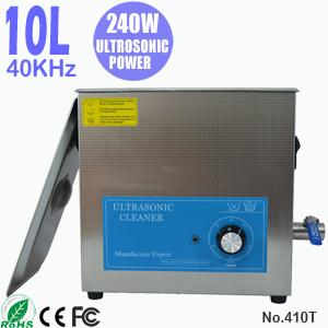 10L不锈钢超声波清洗设备 小型工业用全自动超声波清洗机 410T