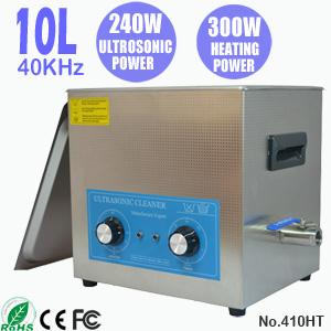 10L五金除腊除油超声波清洗机 高效除油超声波清洗 410HT