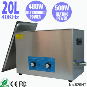 20L台式单槽超声波清洗机 五金行业轴承模具自动清洗机 820HT